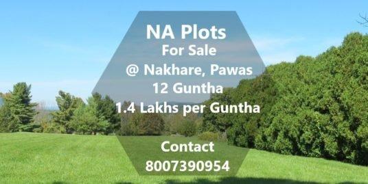 12 Guntha NA Plot @1.4 Lakhs/Guntha